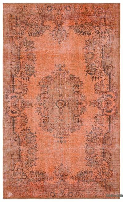 Boyalı El Dokuma Vintage Halı - 173 cm x 286 cm