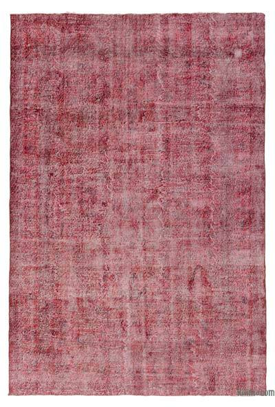 "Over-dyed Turkish Vintage Rug - 6' 9"" x 10' 4"" (81 in. x 124 in.)"