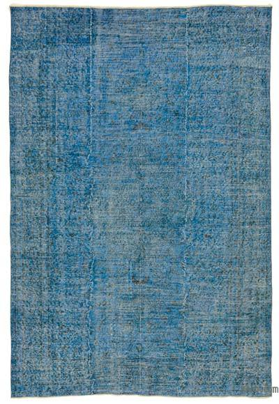 "Blue Over-dyed Turkish Vintage Rug - 5' 9"" x 8' 5"" (69 in. x 101 in.)"