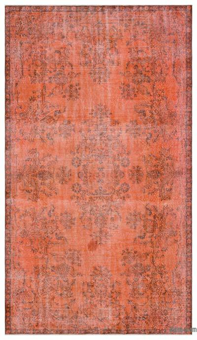 """Over-dyed Turkish Vintage Rug - 5' 9"""" x 9' 11"""" (69 in. x 119 in.)"""