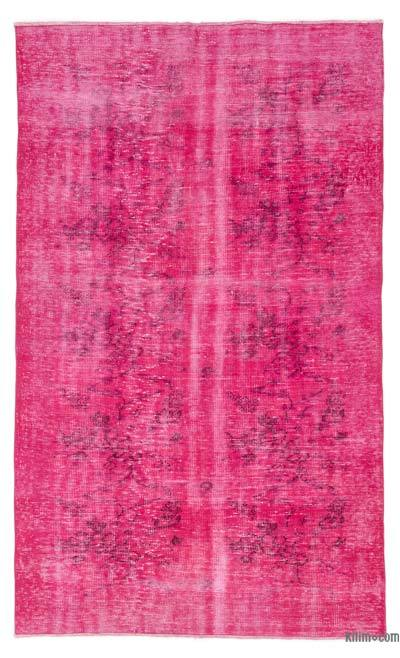 """Over-dyed Turkish Vintage Rug - 5'  x 8' 2"""" (60 in. x 98 in.)"""