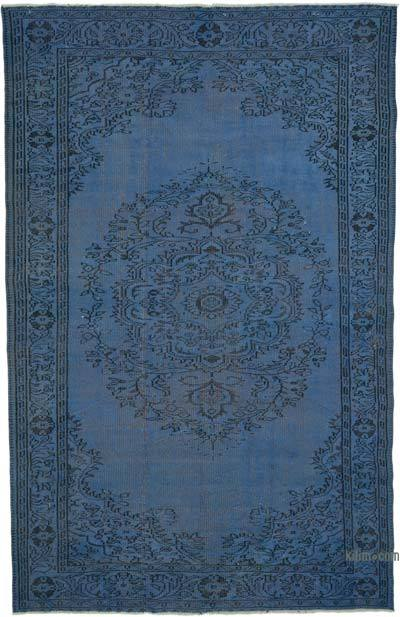 """Over-dyed Turkish Vintage Rug - 6' 2"""" x 9' 7"""" (74 in. x 115 in.)"""