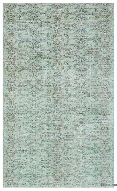 """Over-dyed Turkish Vintage Rug - 5' 1"""" x 8' 8"""" (61 in. x 104 in.)"""