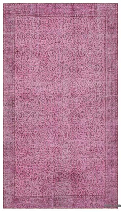 "Over-dyed Turkish Vintage Rug - 5' 5"" x 9' 6"" (65 in. x 114 in.)"