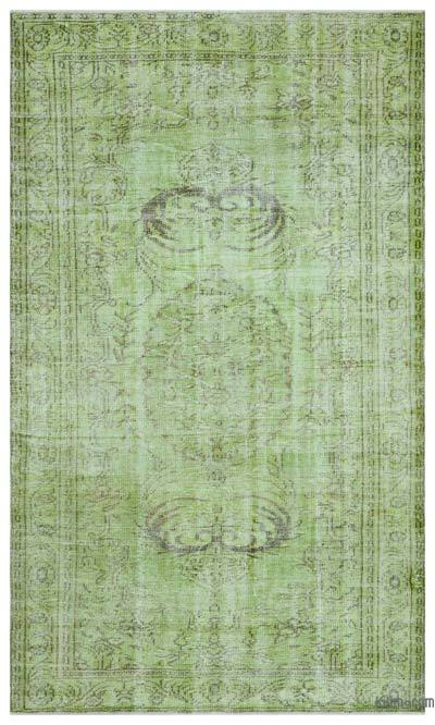 """Over-dyed Turkish Vintage Rug - 5'5"""" x 9'1"""" (65 in. x 109 in.)"""