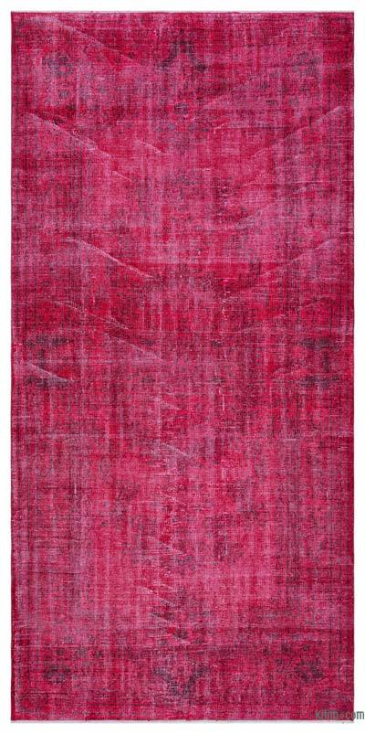"""Over-dyed Turkish Vintage Rug - 4' 6"""" x 9' 5"""" (54 in. x 113 in.)"""