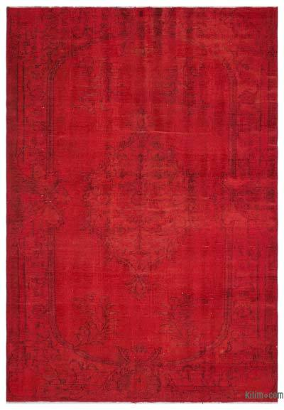 "Over-dyed Turkish Vintage Rug - 6'5"" x 9' (77 in. x 108 in.)"