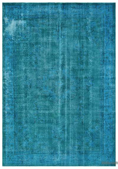 """Over-dyed Turkish Vintage Rug - 6'10"""" x 9'10"""" (82 in. x 118 in.)"""