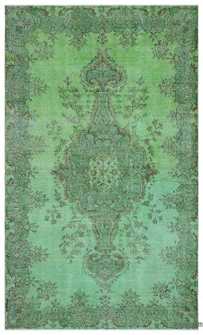 "Over-dyed Turkish Vintage Rug - 5'6"" x 9'1"" (66 in. x 109 in.)"