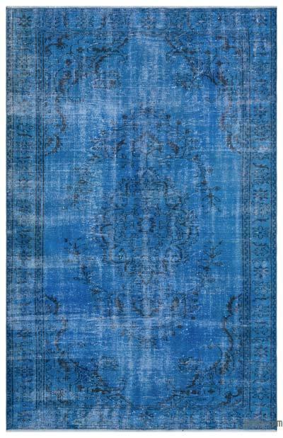 Boyalı El Dokuma Vintage Halı - 180 cm x 281 cm