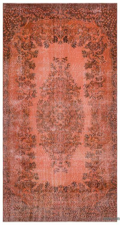 """Over-dyed Turkish Vintage Rug - 5' 5"""" x 10' 2"""" (65 in. x 122 in.)"""