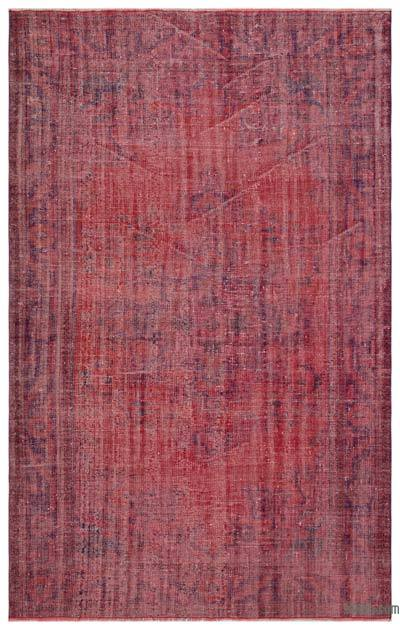 """Over-dyed Turkish Vintage Rug - 6' x 9'6"""" (72 in. x 114 in.)"""