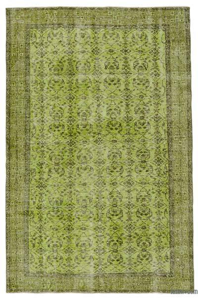 """Over-dyed Turkish Vintage Rug - 5'5"""" x 8'5"""" (65 in. x 101 in.)"""