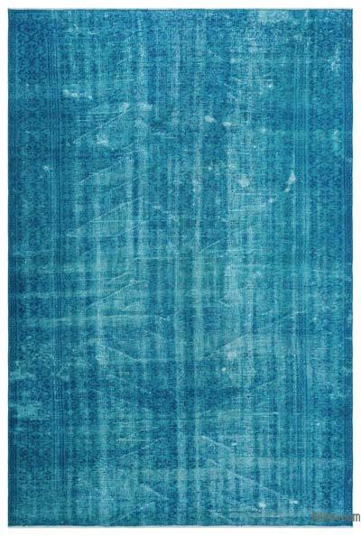 """Over-dyed Turkish Vintage Rug - 5'9"""" x 8'6"""" (69 in. x 102 in.)"""