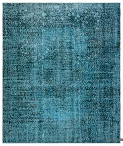 """Over-dyed Turkish Vintage Rug - 6'2"""" x 7'5"""" (74 in. x 89 in.)"""