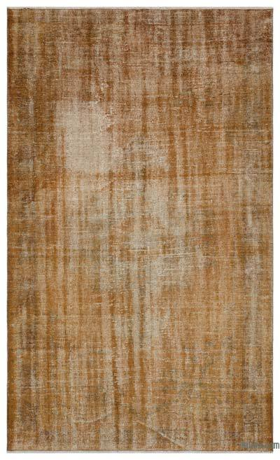 """Over-dyed Turkish Vintage Rug - 5'1"""" x 8'7"""" (61 in. x 103 in.)"""