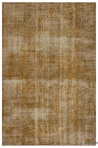 """Over-dyed Turkish Vintage Rug - 6' 1"""" x 9' 2"""" (73 in. x 110 in.)"""