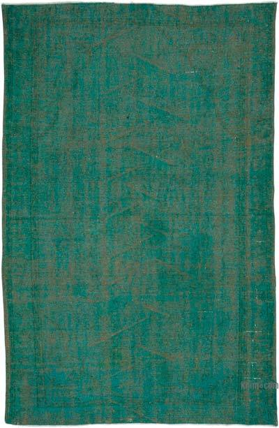"""Over-dyed Turkish Vintage Rug - 5' 5"""" x 8' 4"""" (65 in. x 100 in.)"""