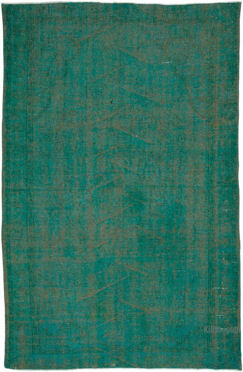 """Over-dyed Turkish Vintage Rug - 5' 5"""" x 8' 4"""" (65 in. x 100 in.) - K0035889"""