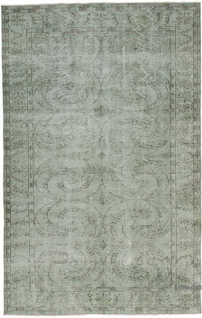 "Over-dyed Turkish Vintage Rug - 5' 10"" x 9' 3"" (70 in. x 111 in.)"