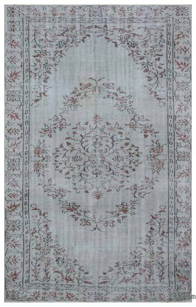 "Over-dyed Turkish Vintage Rug - 5' 11"" x 9' 3"" (71 in. x 111 in.)"