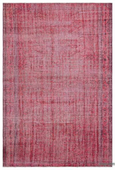 "Over-dyed Turkish Vintage Rug - 5' 9"" x 8' 8"" (69 in. x 104 in.)"