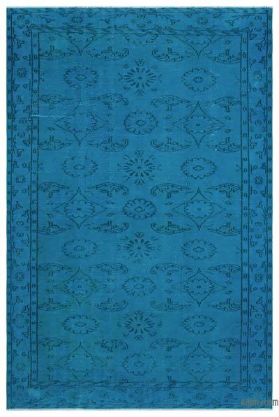 Boyalı El Dokuma Vintage Halı - 174 cm x 264 cm