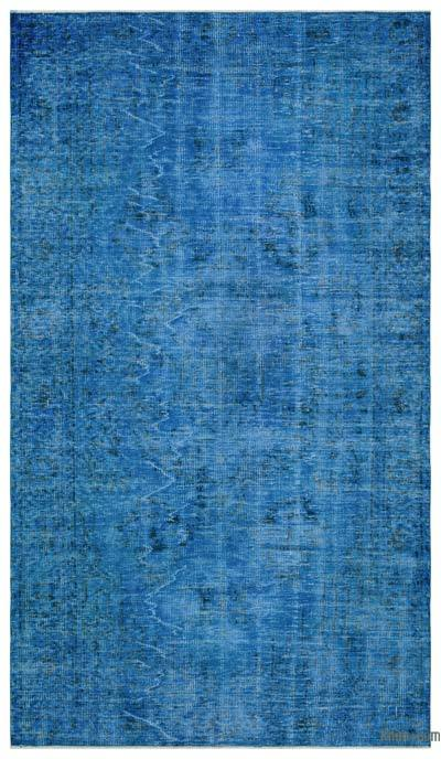 """Over-dyed Turkish Vintage Rug - 5'10"""" x 10'2"""" (70 in. x 122 in.)"""