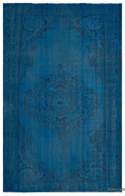 """Over-dyed Turkish Vintage Rug - 5'6"""" x 8'7"""" (66 in. x 103 in.)"""