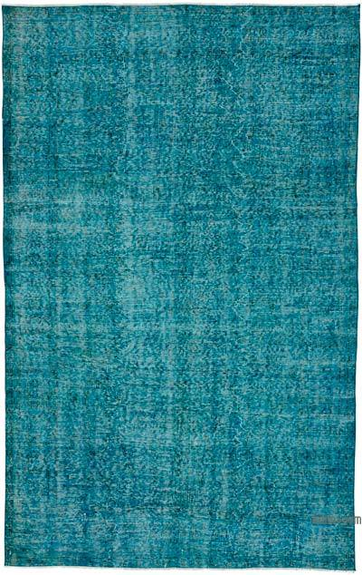 """Over-dyed Turkish Vintage Rug - 5'5"""" x 8'6"""" (65 in. x 102 in.)"""