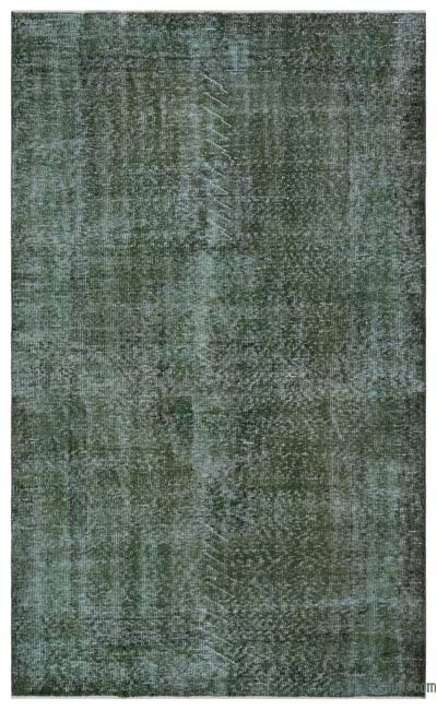 Boyalı El Dokuma Vintage Halı - 152 cm x 253 cm
