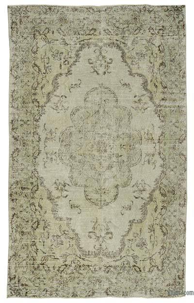"""Over-dyed Turkish Vintage Rug - 6'4"""" x 10'4"""" (76 in. x 124 in.)"""