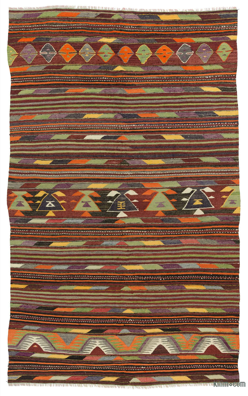 Multicolor Vintage Konya Kilim Rug