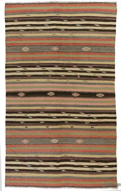 Vintage Denizli Kilim Rug