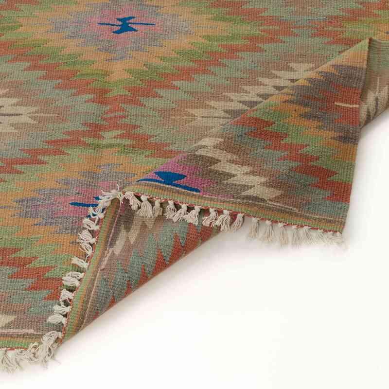 """Multicolor Vintage Afyon Kilim Rug - 5' 3"""" x 8' 9"""" (63 in. x 105 in.) - K0035978"""