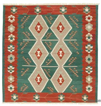 "New Handwoven Turkish Kilim Rug - 8' 3"" x 8' 4"" (99 in. x 100 in.)"