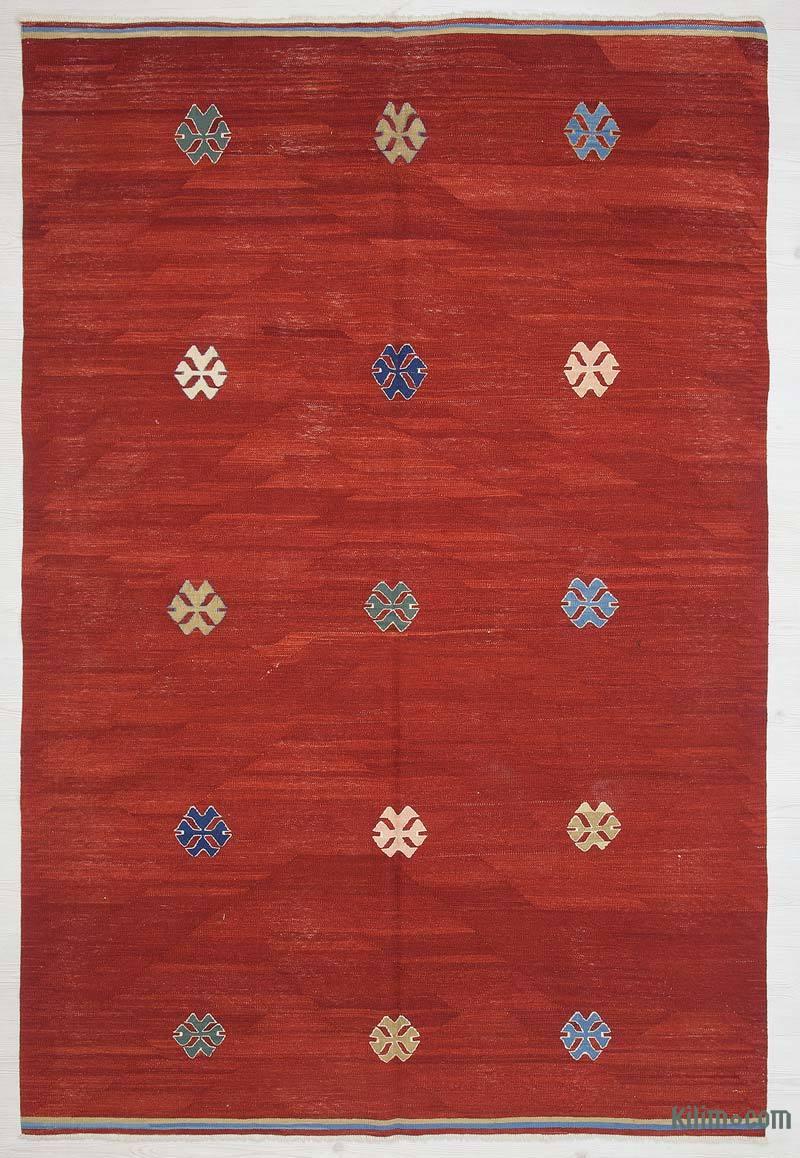 Kırmızı Yeni Kök Boya El Dokuma Kilim - 160 cm x 240 cm - K0036021