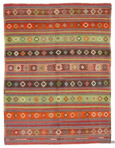 """Vintage Balikesir Kilim Rug - 5' 5"""" x 7' 3"""" (65 in. x 87 in.)"""