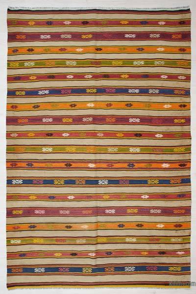 "Vintage Fethiye Kilim Rug - 5'1"" x 7'10"" (61 in. x 94 in.)"