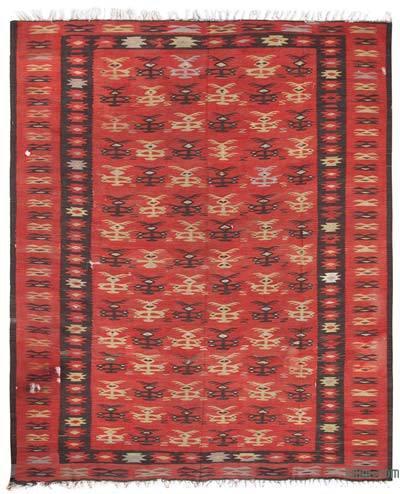 """Vintage Manastir Kilim Rug - 9' 6"""" x 11' 8"""" (114 in. x 140 in.)"""