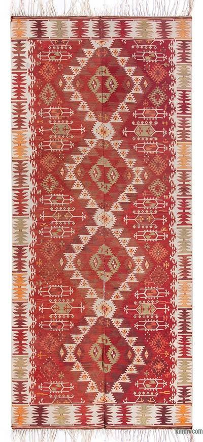"Vintage Adana Kilim Rug - 6' 5"" x 13' 11"" (77 in. x 167 in.)"