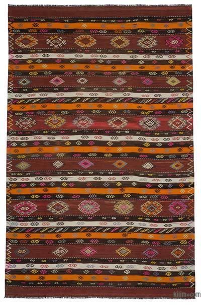 """Multicolor Vintage Kars Kilim Rug - 7' 3"""" x 11' 6"""" (87 in. x 138 in.)"""