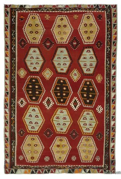 "Vintage Sarkisla Kilim Rug - 7' 5"" x 11' 4"" (89 in. x 136 in.)"