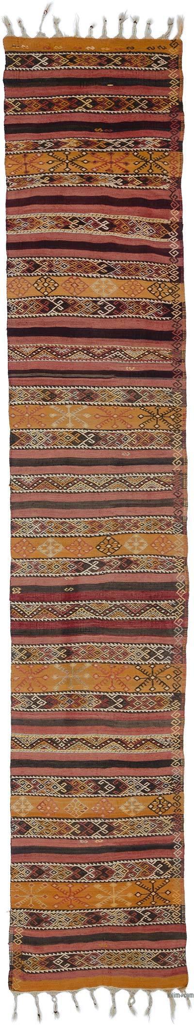 Vintage Malatya Kilim Yolluk - 80 cm x 430 cm