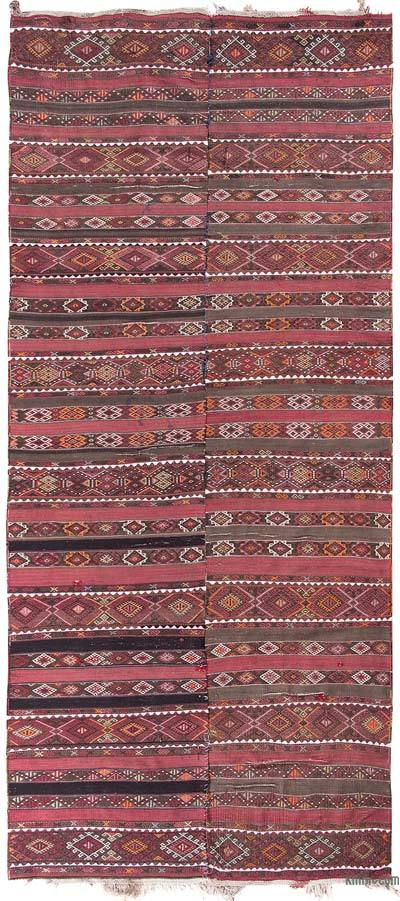 "Vintage Malatya Kilim Rug - 5' 1"" x 11' 2"" (61 in. x 134 in.)"