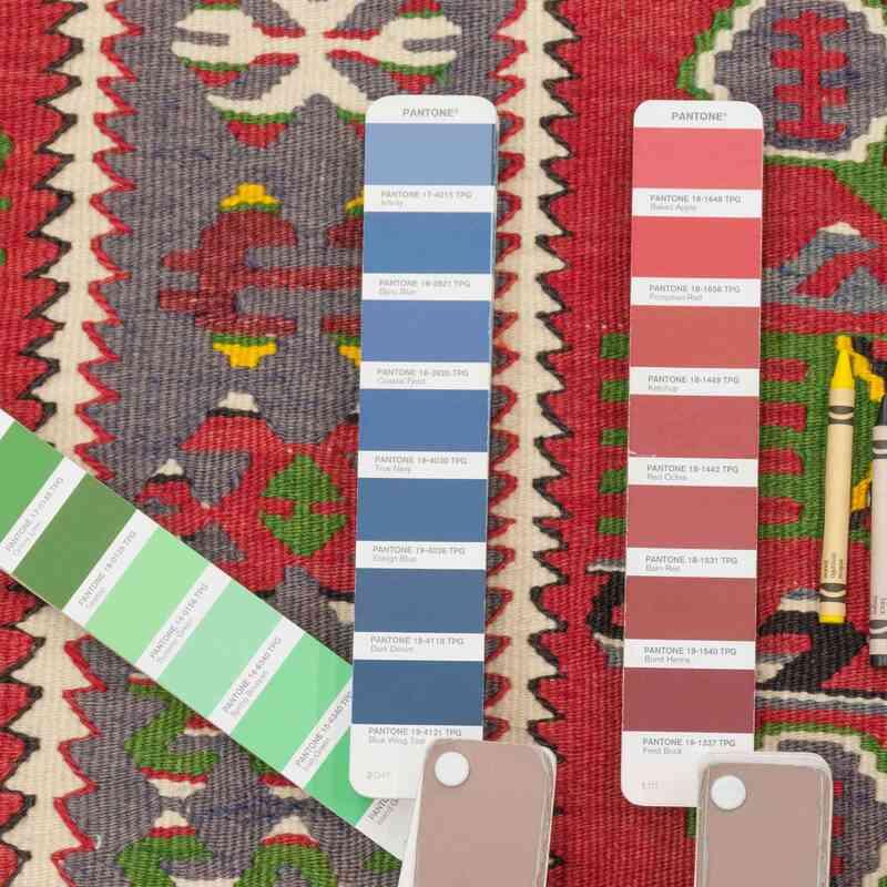 Çok Renkli Eşme Kilimi - 122 cm x 183 cm - K0036259