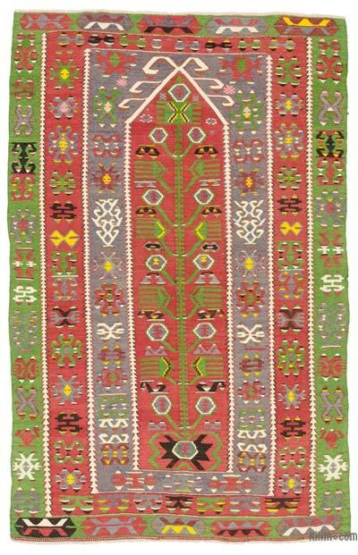 Multicolor Alfombra Vintage Esme Kilim - 122 cm x 183 cm