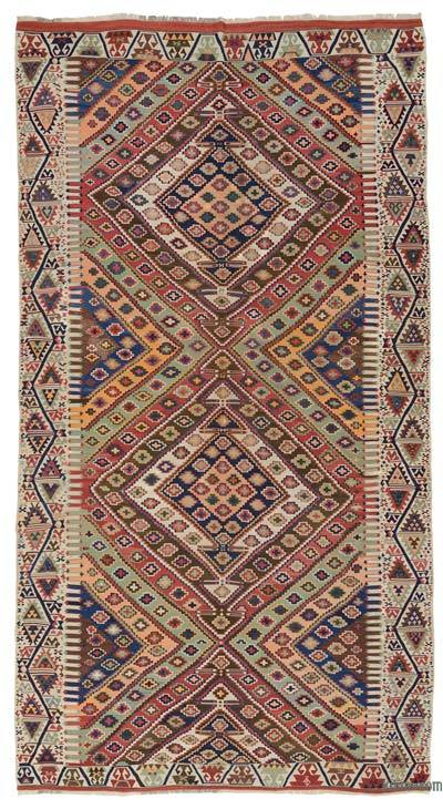 "Antique Malatya Kilim Rug - 6' 6"" x 12'  (78 in. x 144 in.)"