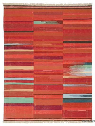 "New Handwoven Turkish Kilim Rug - 7' 7"" x 9' 10"" (91 in. x 118 in.)"