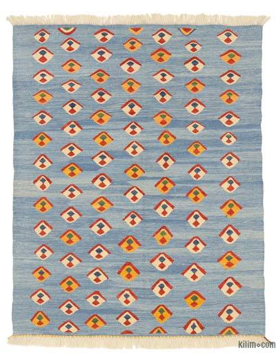 "New Handwoven Turkish Kilim Rug - 3' 11"" x 4' 10"" (47 in. x 58 in.)"